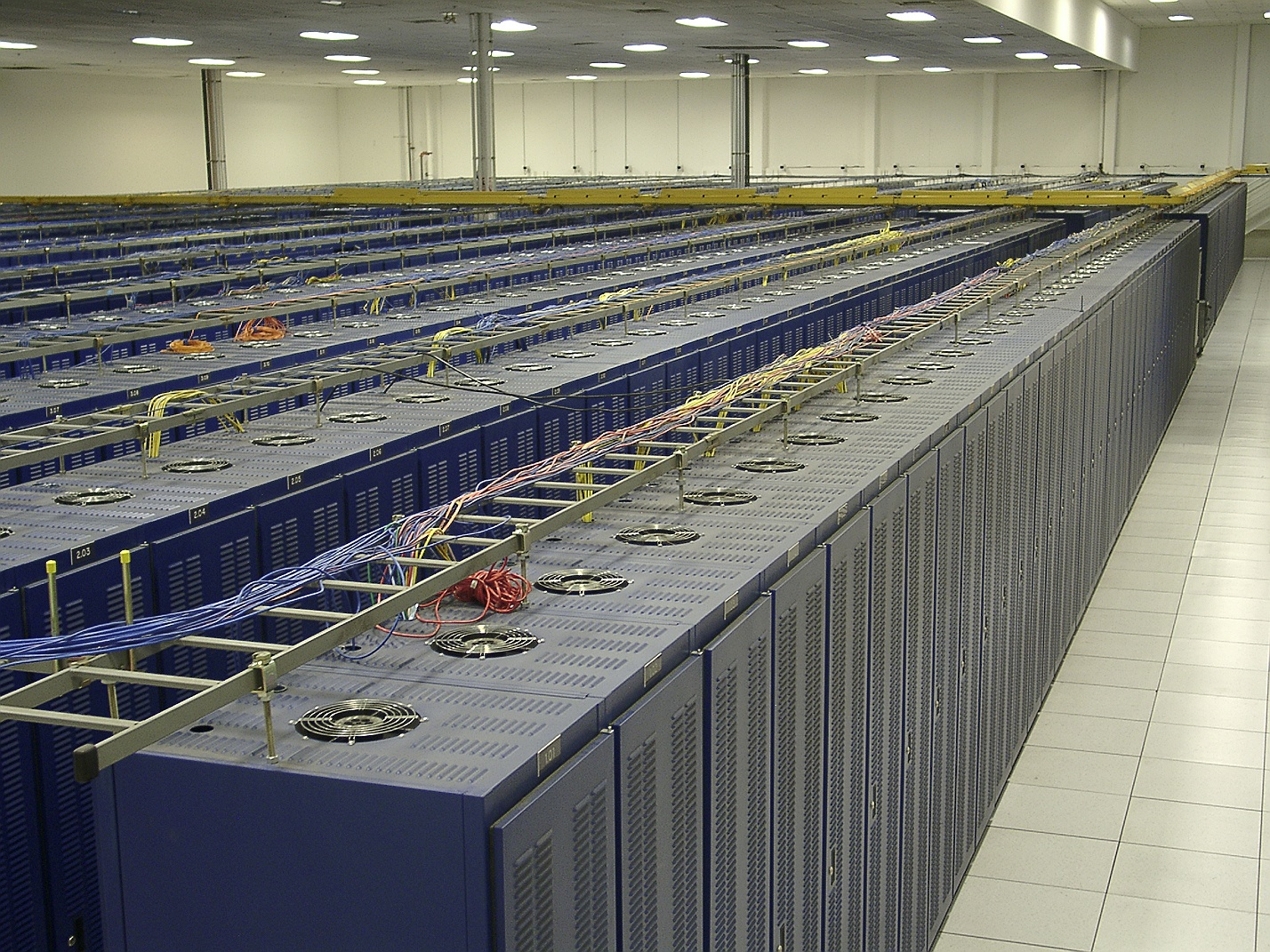 Overhead View (Virtual Tour of Hurricane Electric's Fremont 1 Data Center)